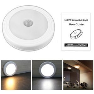 Magnetic Infrared IR Motion Sensor LED Wall Lights Night Light Auto On/Off Battery Operated for Hallway Pathway Staircase Wall Fridge
