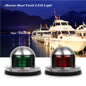 2pcs 12V Marine Boat Yacht LED Light Stainless Steel Bow Navigation Lights