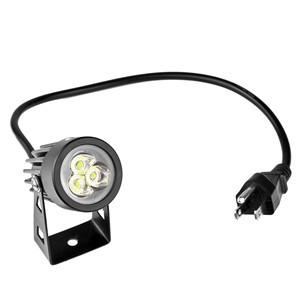 LemonBest-US Plug 3W LED Mini Lawn Garden Flood Light Yard Patio Path Spotlight Lamp Waterproof Cool White AC 85-265V