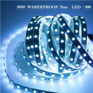 LemonBset - (Non-Waterproof) 5M/roll Cool White 300 LEDs SMD 5050 Flexible led Strip Light