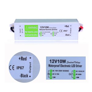 LemonBest-Waterproof IP67 12V 0.83A 10W Adapter Adaptor Electronic LED Driver Transformer Power Supply