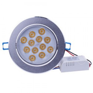 LemonBest - 36W LED Ceiling Light Recessed Spotlight Downlight Warm White  100-245V