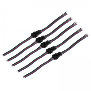 30pcs/hot 4 PIN Male and Female RGB Connector Wire Cable For 3528 5050 SMD LED Strip